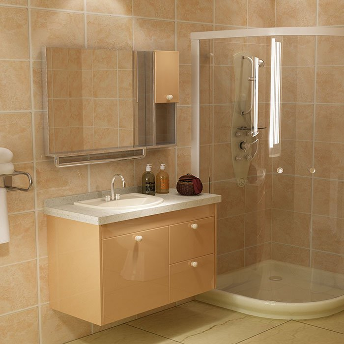 BSYG-02 Simple Design Bathroom Cabinet Beige