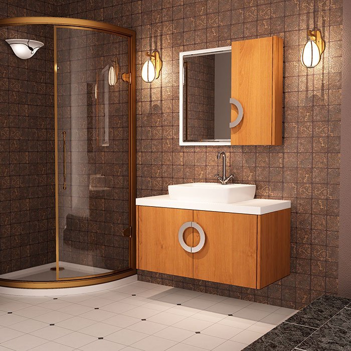 BSYG-05 Modern Design with Wood Grain Bathroom Set