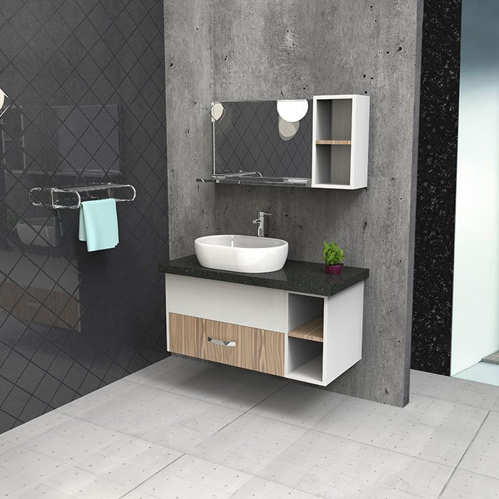 BSYG-08 Hanging Style Fadior Bathroom Cabinet with Shelf