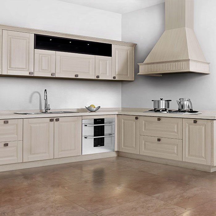 GY001 Venice - 100% Stainless Steel Wood Grain Kitchen